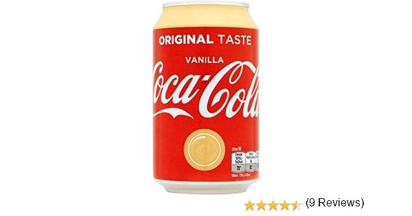 72 x Coca Cola Vanilla cans, dosen, canettes, latas, lattine 0,33 L: Amazon.es: Alimentación y bebidas