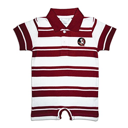 Two Feet Ahead Florida State Seminoles NCAA College Infant Baby Rugby Striped Romper (6 - Onesie Florida