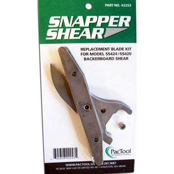 PacTool International 42253 Snapper Shear Replacement Blade Kit for SS424 Backerboard Shear