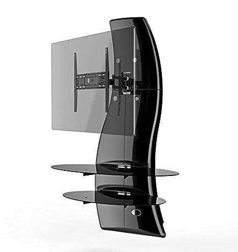 Meliconi Ghost Design 2000 DR Meuble Mural Orientable avec Bras de D/éport pour /Écran Plasma//LCD 32 /à 63 Argent