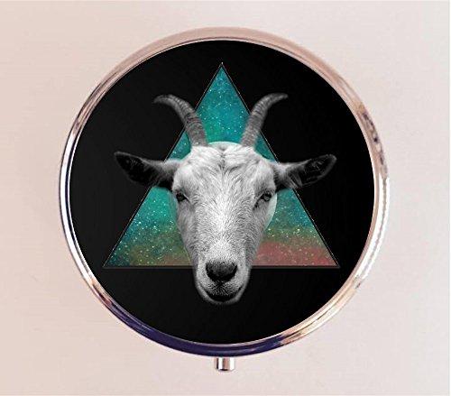 Occult Goat Head Pill Box Pillbox Case Holder Trinket Box Art Inspired by Black Phillip Witchcraft Witch Baphomet Satanic - Head Trinket