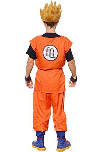 Miccostumes Men's Dragon Ball Goku Cosplay Costume Large Orange and Dark Blue
