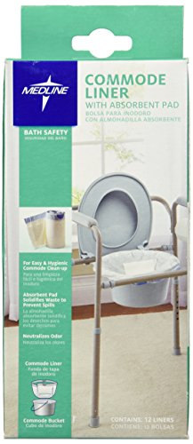 Medline Commode Liner Absorbent Count