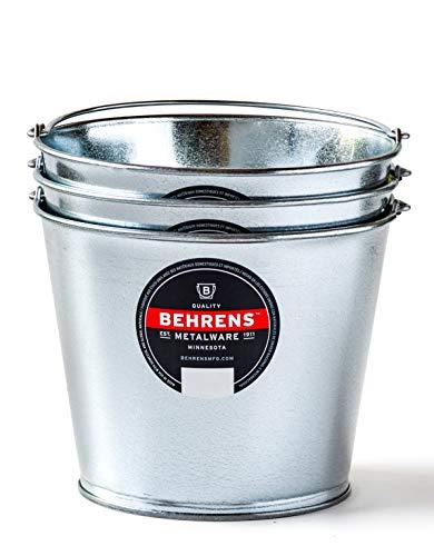 Behrens 1205GS 5-Quart Galvanized Steel Pail, 3-Pack