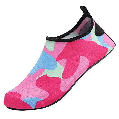 CIOR Männer und Frauen Barfuß Haut Aqua Schuhe Rutschfeste Multifunktionale Wasserschuhe Für Strand Pool Surf Yoga Übung H.pink01