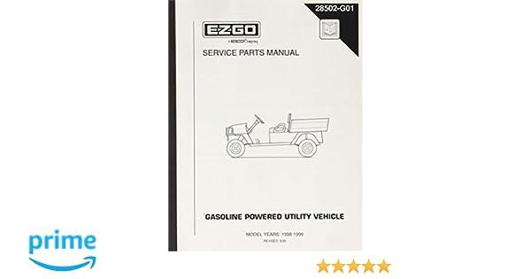 amazon com : ezgo 28502g01 1998-1999 service parts manual for gas st350  workhorse : outdoor decorative fences : garden & outdoor