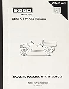Amazon.com : EZGO 28502G01 1998-1999 Service Parts Manual ...
