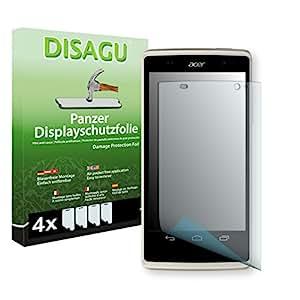 4 x DISAGU Lámina blindada para pantallas Acer Liquid Z500 contra roturas