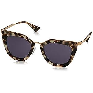Prada Women's Metal Bridge Sunglasses, White Havana/Gold Violet, One Size