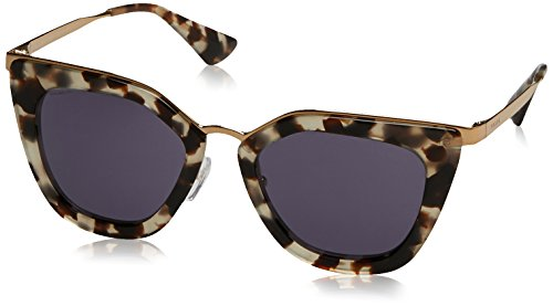 (Prada Women's Metal Bridge Sunglasses, White Havana/Gold Violet, One Size)