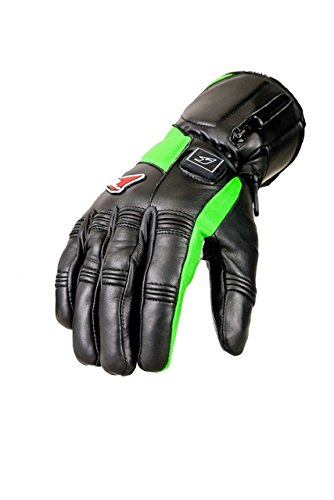 Fired Up Women's Heated Gloves, Black/Lime Green, Small