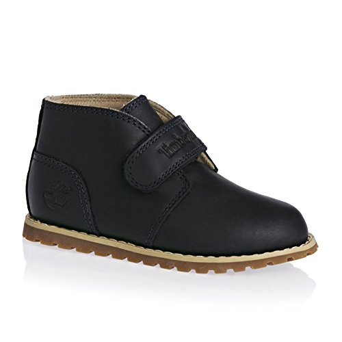 Timberland Pokey Pine Chukka Dark Blue Leather Infant Ankle Boots Blue