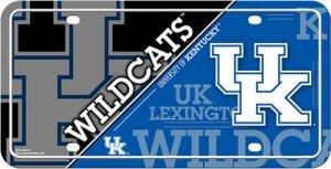 NCAA Kentucky Wildcats Metal License Plate Tag