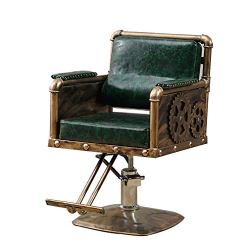 COMO Deluxe Hydraulic Barber Chair,Beauty Shop Reclining, Salon Equipment,European Retro Tattoo Chair,Multiple Styles…