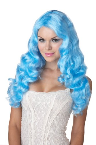 California Costumes Eye Candy Sweet Tart Wig, Baby Blue, One Size]()