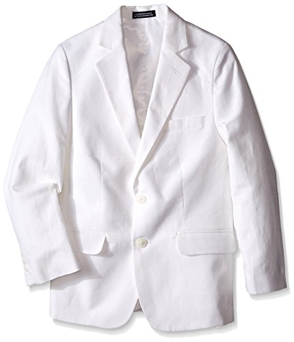 Nautica Big Boys' Linen White Jacket, 10