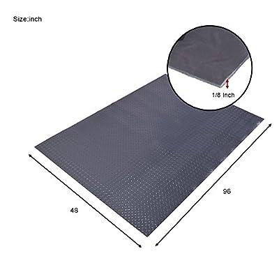 "Elevens Waterproof Rubber Flooring Metallic PVC Flooring with Diamond Plate Pattern (1/8"" x 4ft x 8ft)"