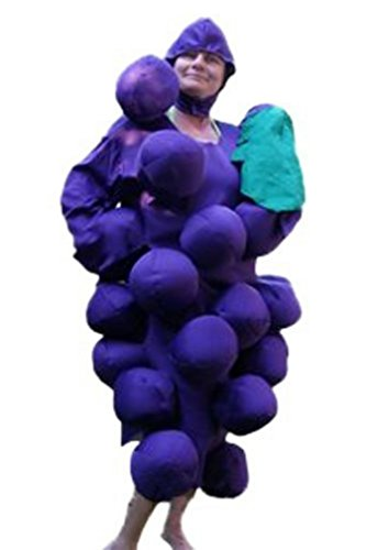 Halloween Grapes Of Bunch Costume (Fantasy World Grape Costume Halloween f. Men and Women, Size: M-L / 08-14,)