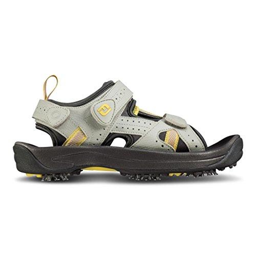 FootJoy FTJ484441-11 Medium GreenJoys Womens Golf Sandals, Cloud & Yellow - 11 Medium