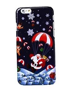 "Christmas Santa Claus Design Pc Back Hard Case Cover for Apple Iphone 6 4.7"" (12-Parachute Santa Claus)"