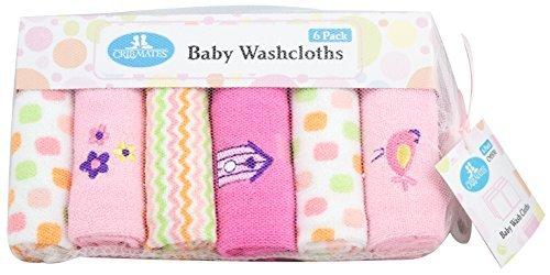 CribMates Baby Washcloths, 1-Pack (6 Wash Cloths), Pink by Crib Mates [並行輸入品]   B01AL04V26