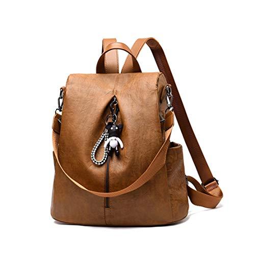 zaini viaggio Brown da Messenger Moodn di Impermeabile Laptop Oxford semplici capacità Laptop Backpack Travel Fashion unita grande University tinta Borse Daily Bag Fw6Zw1nxz