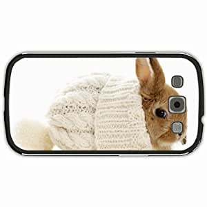 New Style Customized Back Cover Case For Samsung Galaxy S3 Hardshell Case, Black Back Cover Design Bunny Personalized Unique Case For Samsung S3