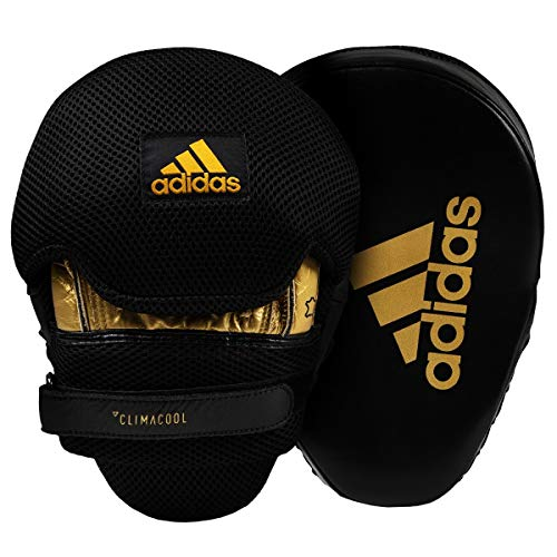 - adidas Pro Contoured Punch Mitts, Black/Gold