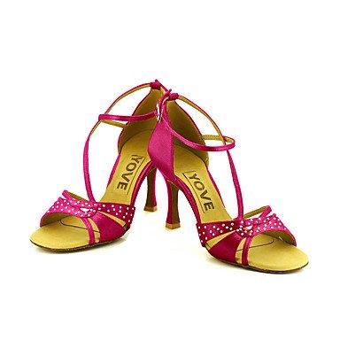 Tacón baile Personalizables Salsa Personalizado Blue Negro Rojo Zapatos Rosa Azul Morado de Amarillo Blanco Latino Fqwx7