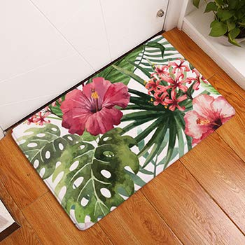 XGM GOU Style Mats Tropical Plant Ostrich Print Carpets Non-Slip Kitchen Rugs for Home Living Room Toilet Floor Mat 40X60cm Rug 04 400mm x 600mm