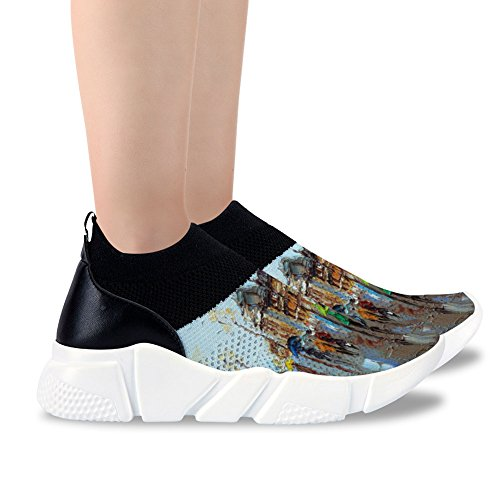 Shoes Buteri Mesh Waliking Paiting Girls Sport Design Oil 5 Shoes Outsoloe Casual EVA Watercolor Athletic Color Women's for rrnRvqwxF