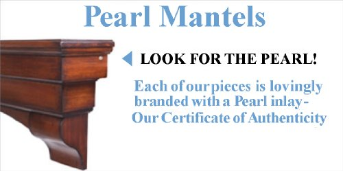 Pearl Mantels 530-48 Monticello Fireplace Mantel Surround with Medium Density Fiberboard, White,...