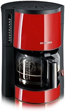 Severin 4306 - Cafetera Roja y Negra: Amazon.es: Hogar