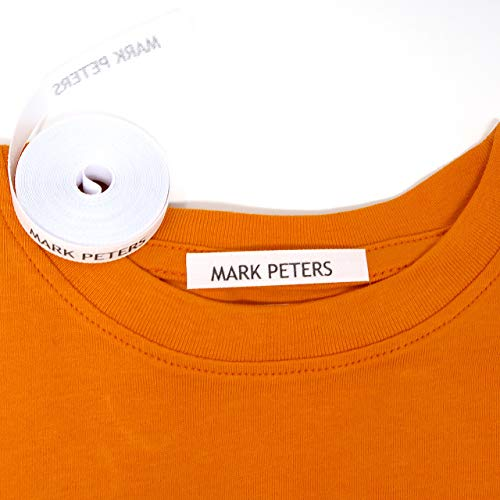 - 100 Personalised Iron-on Fabric Labels to Mark Your Clothes. Gentle with Your Kids Skin, for Children's School Uniform/Clothes/Clothing Labels for Kids, Baby and Children.