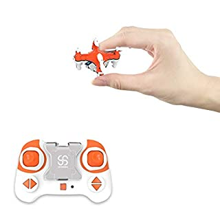 Pocket RC Quadcopter Mini Drone Nano for Kids and Adults Portable Helicopter RTF Micro Plane with Headless Mode, 3D Flip, Speed Adjustment, LED Lights, 2.4Ghz 6 Axis Gyroscope, Children's Day Gift