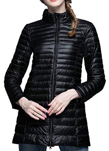 Collar Lightweight Stand Down Long Sleeve Women 6 TTYLLMAO Coats Jacket Long qwCATX
