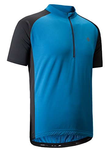 KORAMAN Men's Reflective Short Sleeve Cycling Jersey Quick-Dry Breathable Biking Shirt