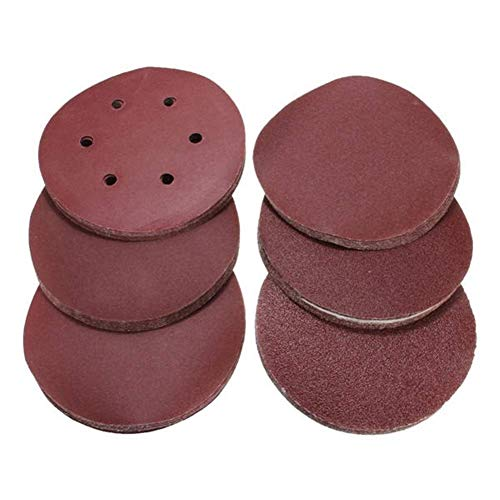 CHUNSHENN 60pcs 6インチディスク60から320グリットサンディング研磨パッド自己接着混合グリットサンディング研削、研磨 研磨用 研磨工具