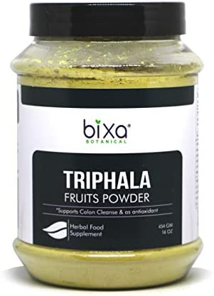 Triphala Powder 1 pound 16 Oz Haritaki,Bibhitaki Amalaki -Natural Anti-Oxidant, Ayurvedic herbal supplement for Blood purifier,Strengthening the hair roots,healthy digestion absorption Prime Deal