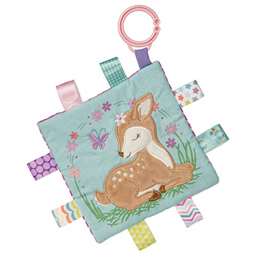 Taggies Soothing Sensory Crinkle Me Toy with Baby Paper and Squeaker, Flora Fawn, 6.5 x 6.5-Inches ()