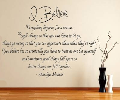 Beautiful Amazon.com: Marilyn Monroe Quote   I Believe Vinyl Wall Decal (Large 21 Photo