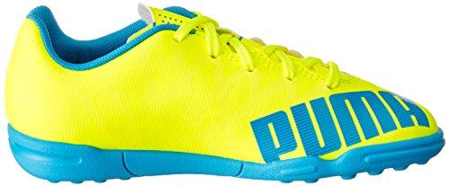 Puma evoSPEED 5.4 TT Jr Unisex-Kinder Fußballschuhe Gelb (safety yellow-atomic blue-white 04)