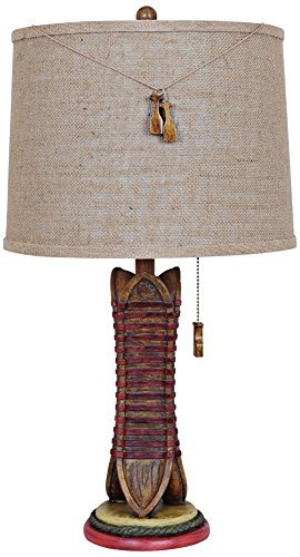- Crestview Collection Rustic Canoe Table Lamp