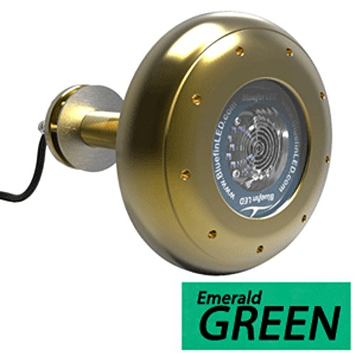 - Bluefin LED Stingray S20 Thru-Hull Underwater LED Light - 9000 Lumens - Emerald Green Marine , Boating Equipment