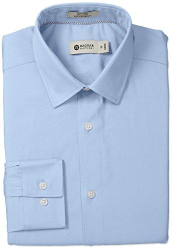 Haggar Solid Collar Regular Sleeve