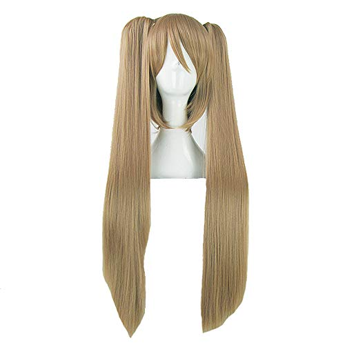 - Wig - fashion long straight high temperature silk wig Personality ponytail Free style Natural soft Suitable for Halloween ball Role playing 70cm brown (color : Brown, Size : 70cm)