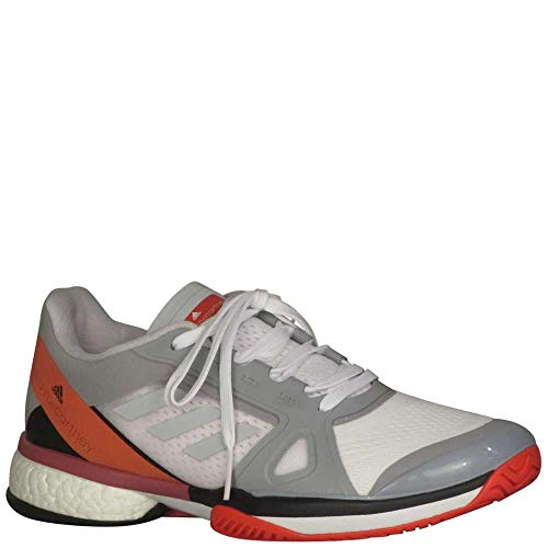 adidas Women's aSMC Barricade Boost Mid Grey/Mid Grey/Core Red 9.5 B US - Plush Womens Adidas