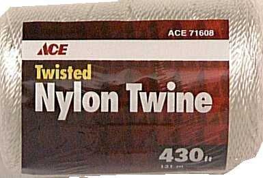 Seine Wellington Nylon Twisted Twine (Twine, Twisted Nylon Seine Twine, White, #21 X 430')