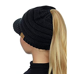 18a6fb06949 ... Knit Skull Beanie Winter Outdoor Runner Messy Bun Ponytail Cap  8.99.  Click to enlargeClick to enlarge. Previous