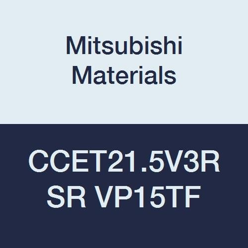 Mitsubishi Materials CCET21.5V3RSR VP15TF Carbide CC TYPE Positive Turning Insert with Hole, RSR Breaker, PVD Coated, Rhombic 80°, 0.25'' IC, 0.094'' Thick, 0.0012'' Corner Radius (Pack of 10)